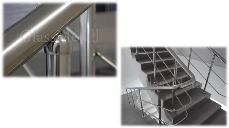Ограждение лестницы с ригелями